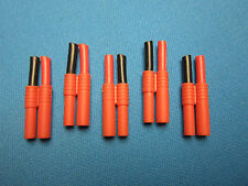 5 HXT 4MM FEMALE BULLET CONNECTOR W HOUSING & SHORT 10AWG SILICONE WIRE PIGTAIL