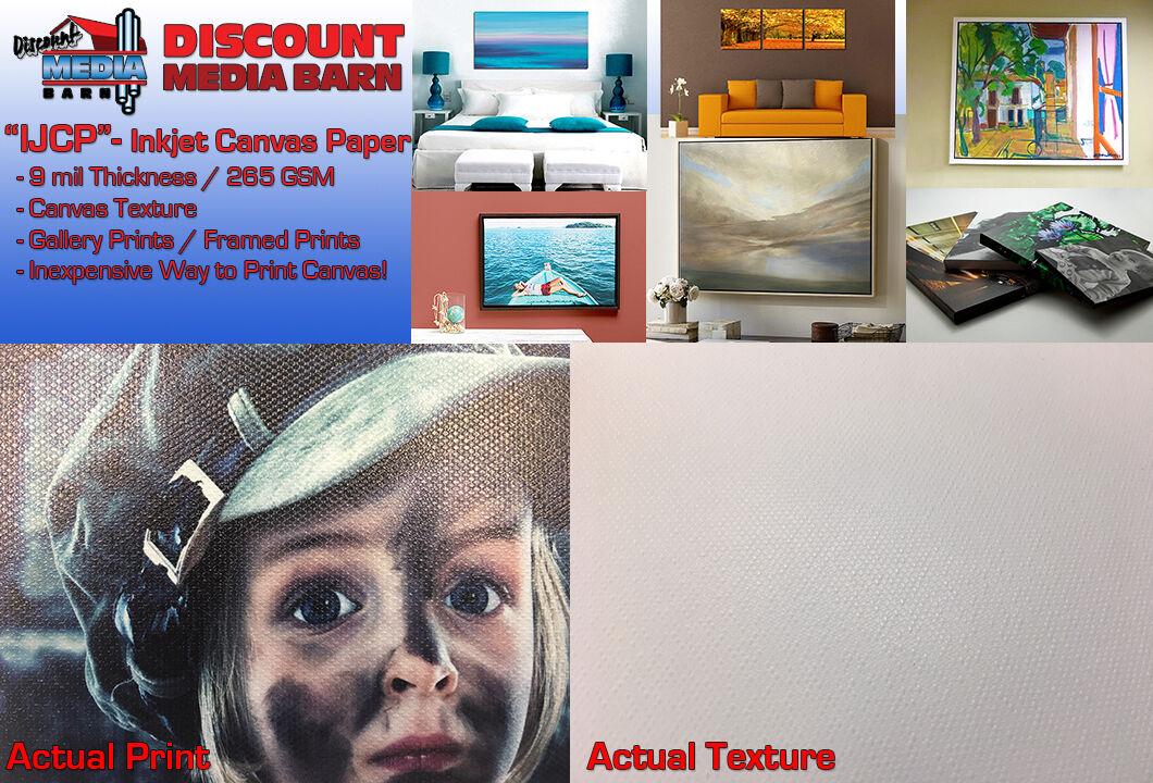 Inkjet Canvas Textured Gloss Photo Paper - 24 x100' - Epson, Canon, HP Printers