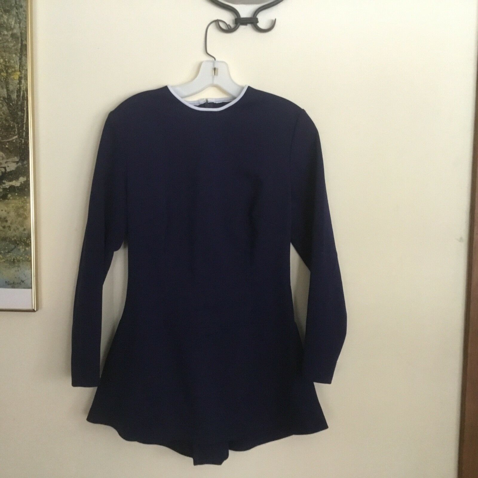 Classic, tasteful navy adult teen skating dress, size large, perfect test dress