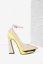 Jeffrey campbell power cut blush yellow heels size 7 new in box