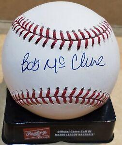 Autographed BOB MCCLURE Official Major League Baseball w/COA