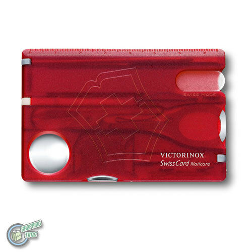 0.7240.T 35811 VICTORINOX Swiss Army Knife Nail Care SwissCard Translucent Red