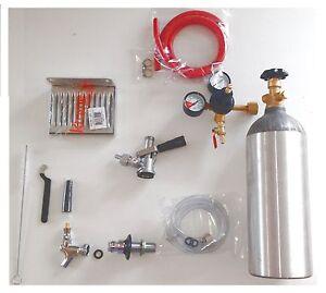 Refridgerator Kegerator Conversion Beer Kit tap Handle Faucet Gas Tank Shank