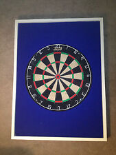 Blue w/White Trim Wood Framed Dart Board Foam Backing/Surround Backboard Cabinet