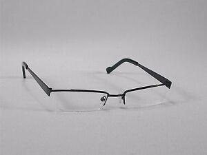 e47a7e38c6 Eyeglass Frames Glasses Men Women Half-Rim Semi-Rimless Black Metal ...