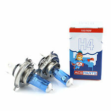 2x H4 [472/P43T] 100/90w Super White Xenon Headlight Bulbs 12v