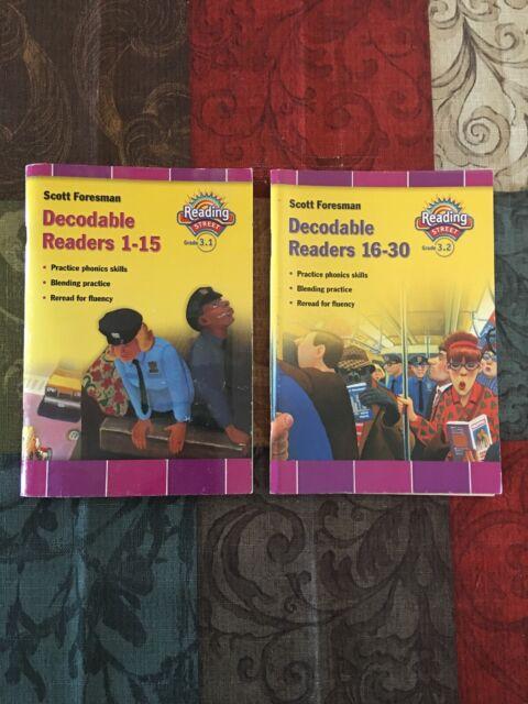 Scott Foresman Decodable Readers 1 15 16 30 Reading Street 3 1 3 2 Books ELA
