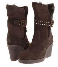 EMU Women's Heighton Lo Wedge Ankle Boot, Chocolate Brown SZ 5 - New!!!