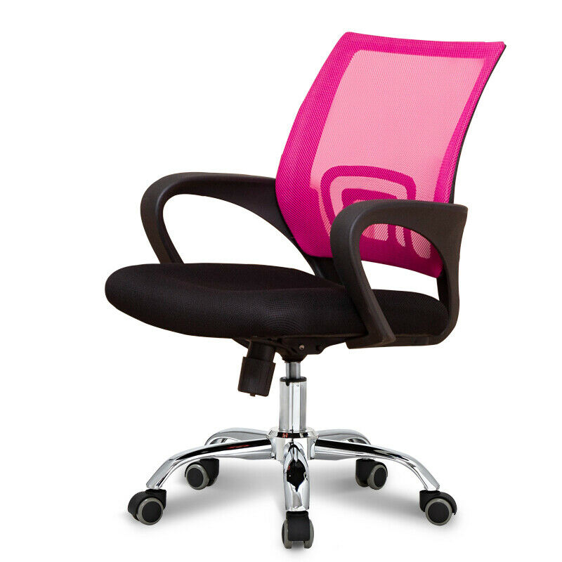 s l1600 - Silla estudio giratoria reclinable tejido mesh base metálica cromada - colores