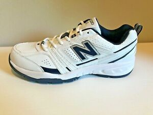 New-Balance-409-White-W-Navy-Trim-Athletic-Sneakers-Shoes-Men-039-s-Size-11D-NEW
