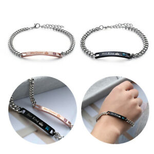 Men And Women Couple Bracelets Love Bangle Her King His Queen