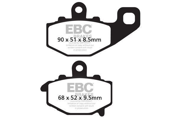 Para Kawasaki ZX-6R (Zx 636 C1/C6F) 05>06 EBC Semi-Sinterizado V Pad Set Trasero