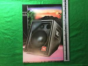 AgréAble Jbl 4602 A Cabaret Stage Monitor Pleine Page Couleur Vintage Pub 1981-afficher Le Titre D'origine