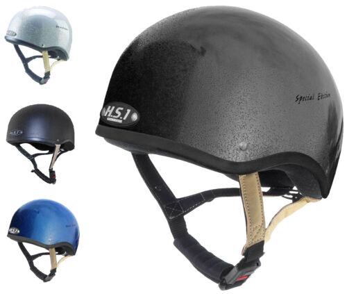 Gatehouse HS1 Jockey Skull Cap Riding Helmet Silver//Black//Blue SNELL 52cm-55cm
