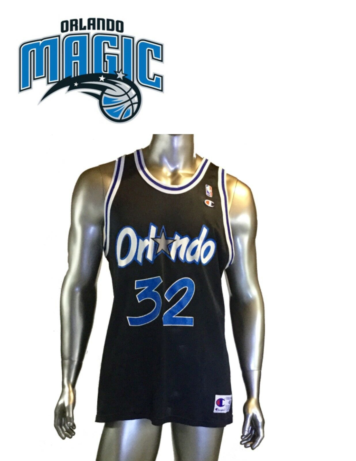 Vintage NBA NBA NBA Orlando Magic  32 Shaquille O'Neal Champion Print Jersey USA, db801f