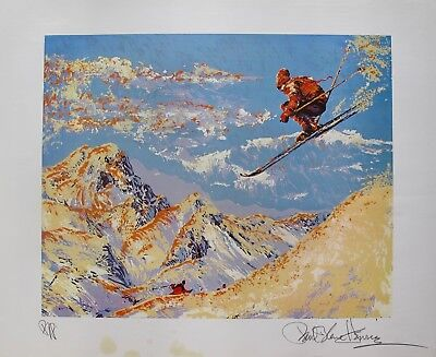 """Paul Blaine Henrie /""""SUNSET SKIER/"""" Hand Signed Limited Edition Art SKIING"""