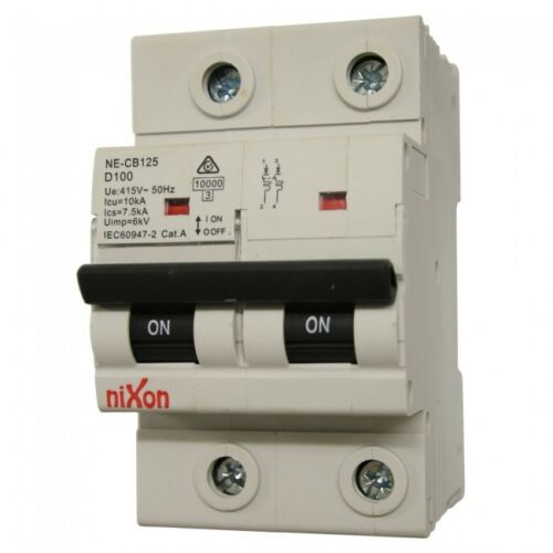 20AMP 2 Pole 10ka MCB Circuit Breaker D Curve Free Shipping