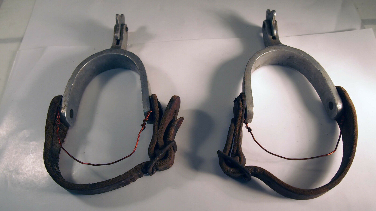 Vintage Aluminum Western  Horse 5 Star Rowel Stiefel Spurs