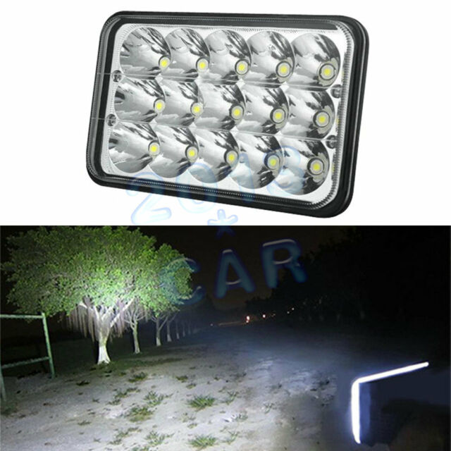 "1pc 4""x6"" Led Cree light bulb Crystal Clear Sealed beam Headlight Headlamp IP67"