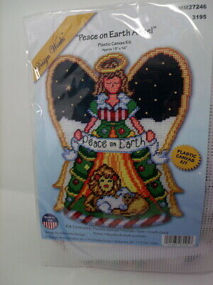 "PEACE ON EARTH ANGEL  Plastic Canvas Kit 13/"" x 16/""  Design Works"