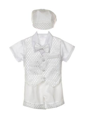 Baby Boy New Christening Baptism Outfit vest Suit size S M L XL 2T 3T 4T 3-36M