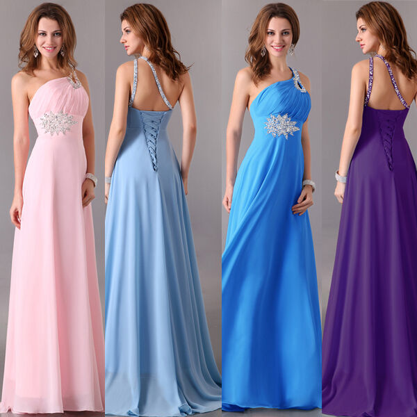 Neu Lang Formal Ballk Abendkleid Hochzeits Brautkleid Brautjungfer Chiffon Dress