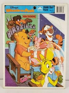Disney Winnie The Pooh Frame Tray Puzzle Golden Collectible #4173B Complete