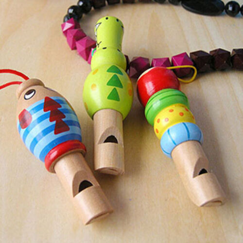 Musical Instrument Animal Whistle Wooden Early Education Develop Kid Toy Gifts