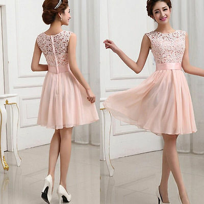 Sexy Lace Cocktail Party Evening Summer Mini Dress Women Fashion Casual Beach