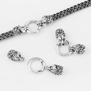Skull S Hook Clasp DIY Necklace Bracelet Connector Findings Leather Craft