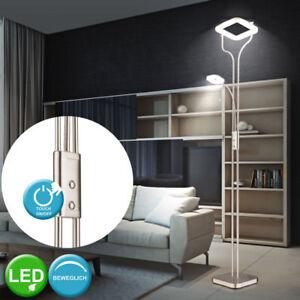 LED-23-Watt-Steh-Lampe-Ess-Zimmer-Decken-Fluter-Lese-Leuchte-Flexo-Touch-Dimmer