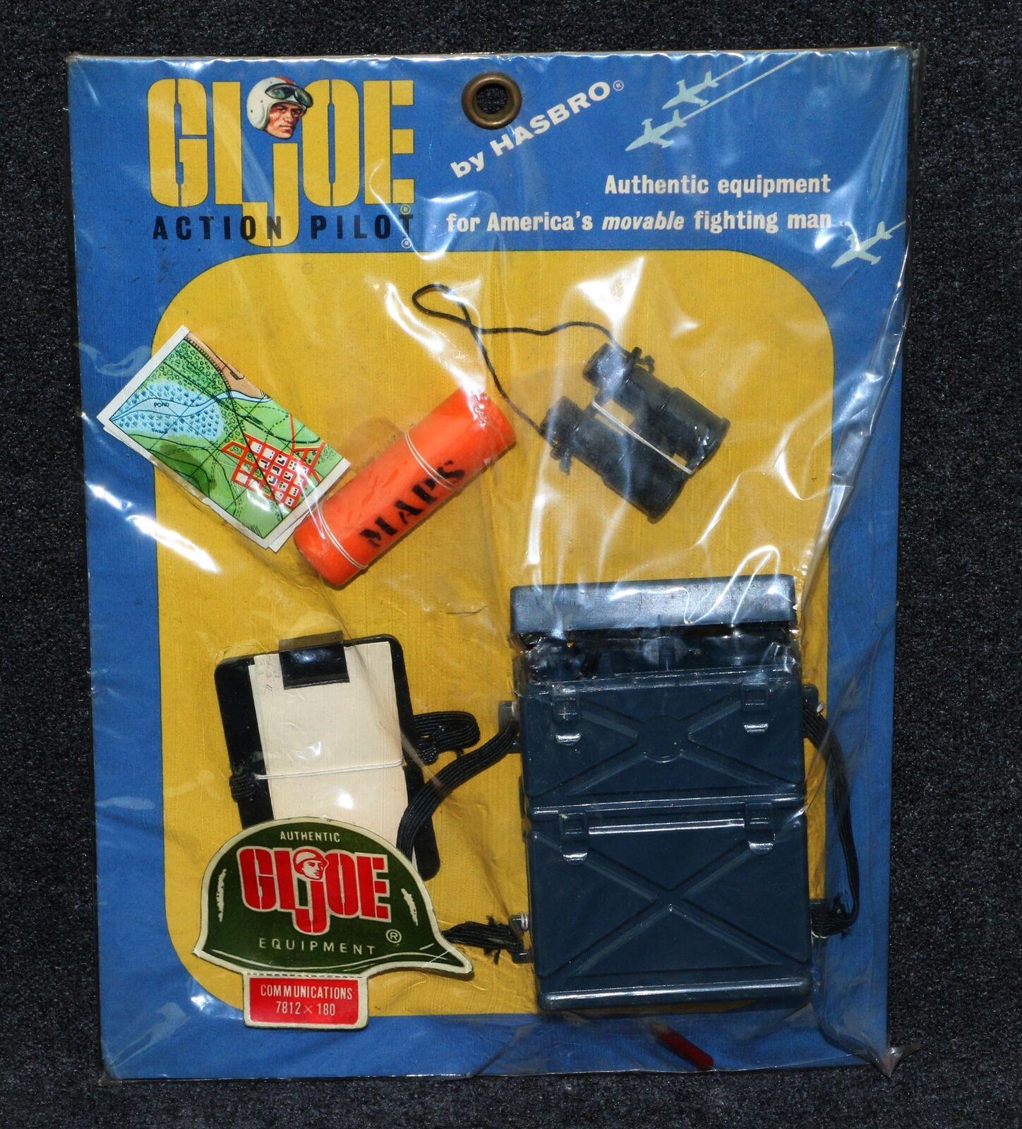 Gi Joe 1964 7812 menta en tarjeta Pegatina Casco de tarjeta de comunicaciones piloto pequeño
