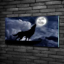 Leinwandbild Kunst-Druck 140x70 Bilder Tiere Wolfsrudel