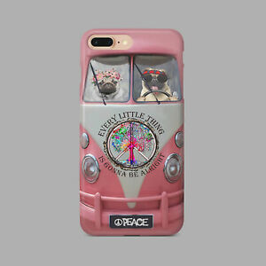 Couple Pug Pink Hippie Bus Dog Lover Phone Case Iphone 11 Pro X Xr Xs Max 8 7