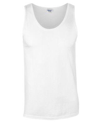 Gildan Softstyle® Adult Plain Tank Top T-shirt - Men's vest top  - S M L XL 2XL