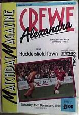 Crewe Alexandra V Huddersfield Town 90-91 de la Liga Match
