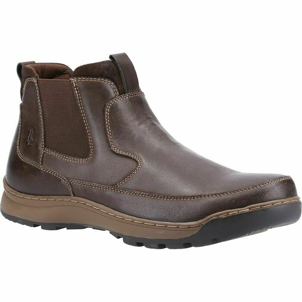 Hush Puppies Gavin Mens Dealer Pull On Leather Casual Ankle Boots