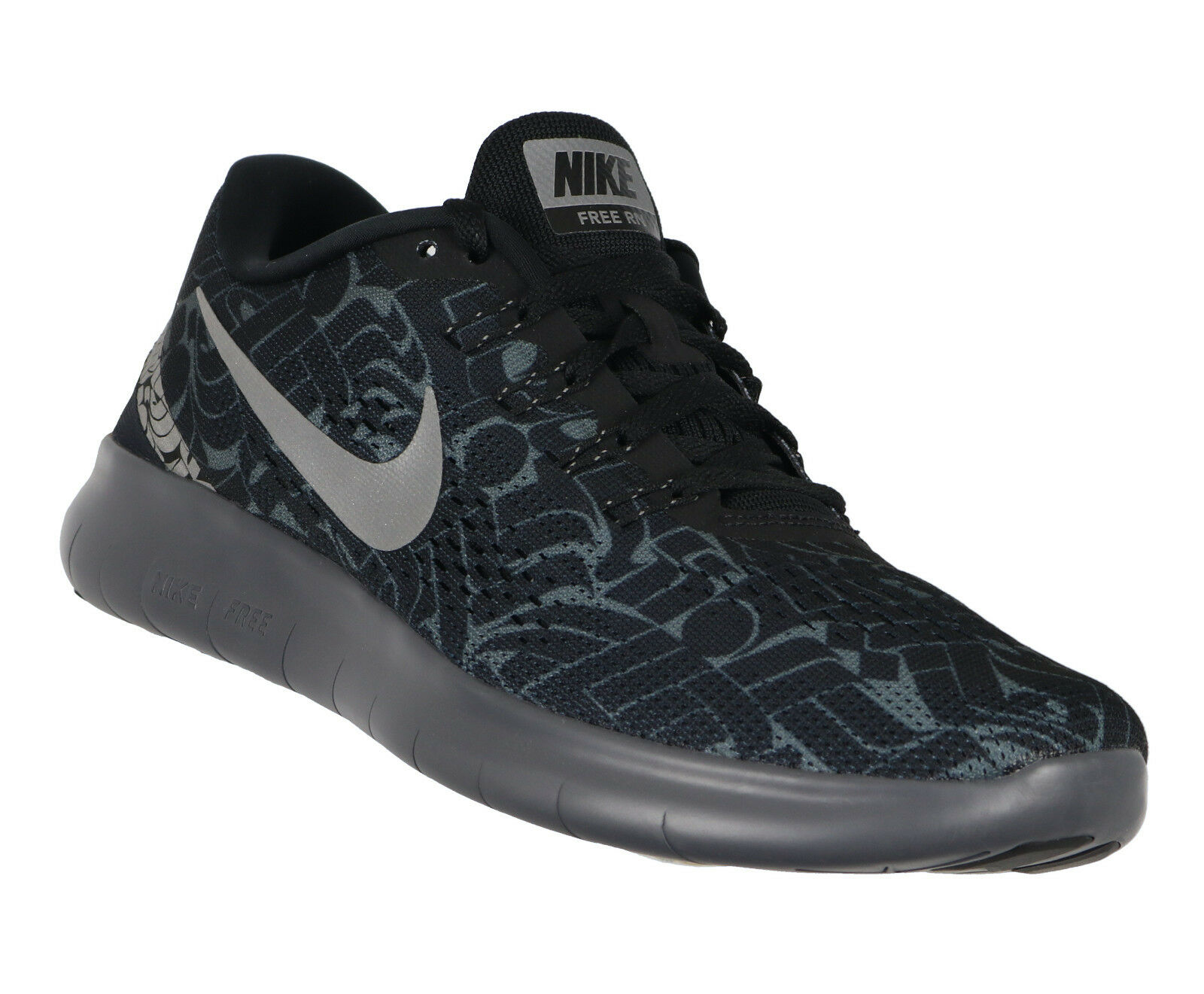 NIKE Women's Free Run x Rostarr Running Shoes sz 9.5 Black Reflective Trainer RN