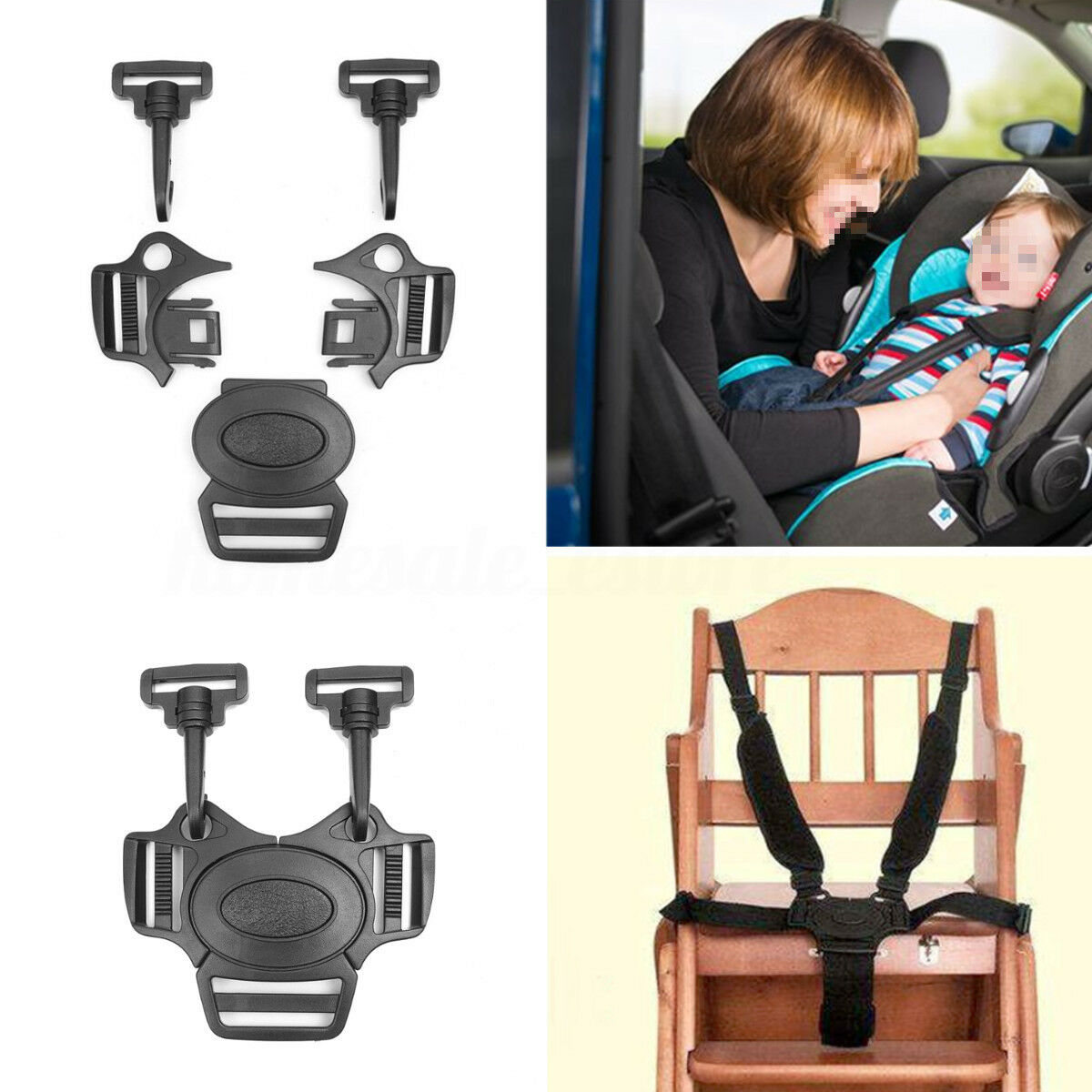 Universal Baby 5 Point Harness Safe Belt Seat Belts For Stroller High Chair  X