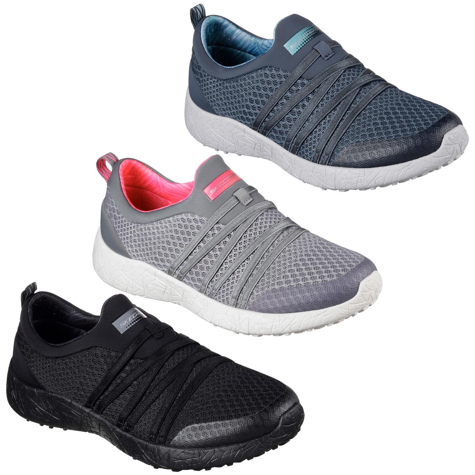 Skechers Burst  Very Daring Trainers Sports Memory Foam Slip On Womens shoes  inexpensive