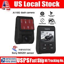 """VIOFO A119S 2.0"""" Capacitor Novatek 96660 HD 1080p 60fps Car Dashcam Camera NEW!"""
