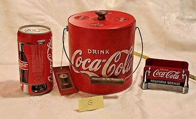 Coca Cola Gifts >> Coke Coca Cola Items Coasters Napkin Holder And Ice Bucket Ebay