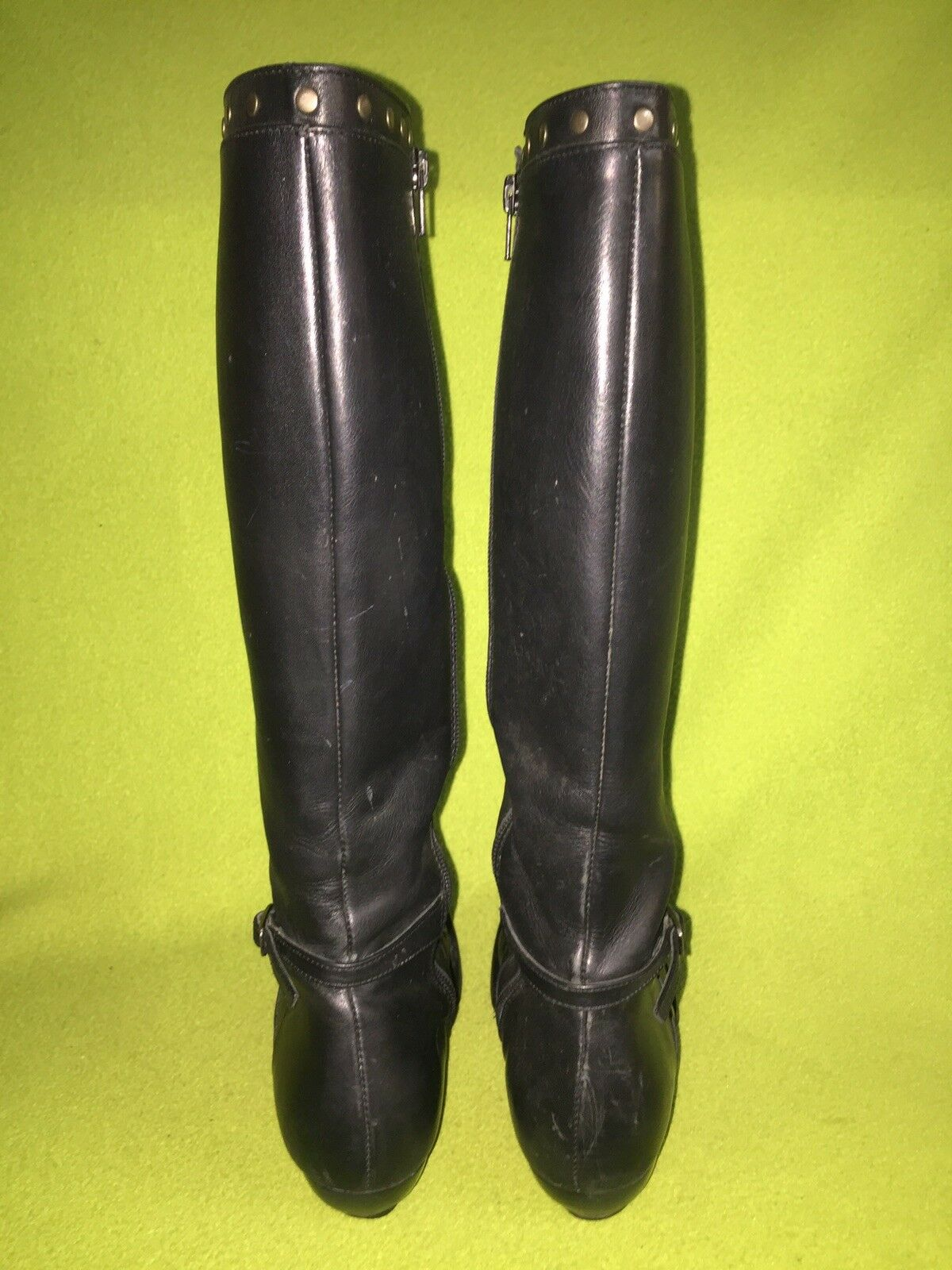 Black Fluevog Studded Freedom Boots Boots Boots 7 1b3250