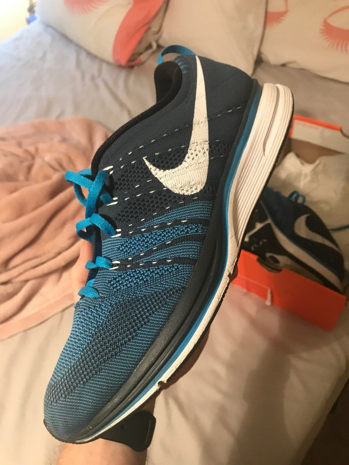 Flyknit Trainer+ Squadron Blue/White Size 11.5