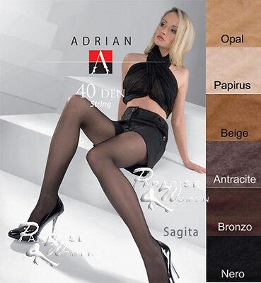 "Exclusive T-Band Tights Adrian ""SAGITTA STRING"" -40 Denier --Size S,M,L"