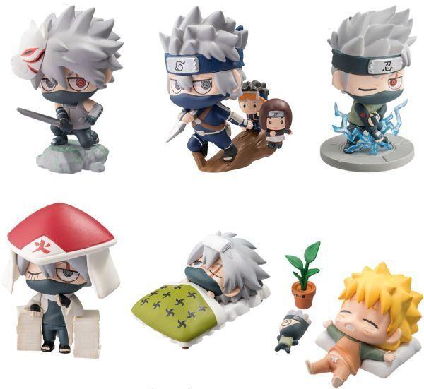 MEGAHOUSE Petit Chara Land Naruto Shippuden Kakashi Hatake Special Set ORIGINALE