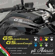 2 Adesivi Fianco Serbatoio Moto BMW R 1200 gs LC Liquid Cooled