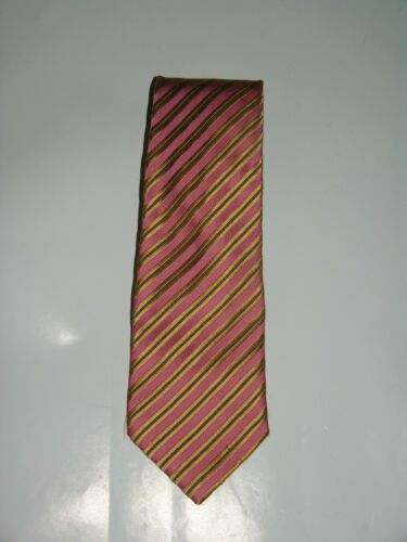 Charvet Wide Width Silk Striped Repp Tie
