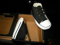 Toddler Boys Girls Black Converse Ct Easy Slip Fur Lined Tennis Shoes Size 4