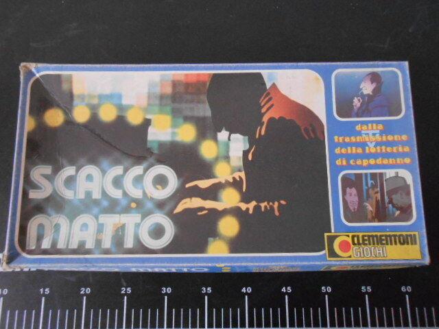 Bonne année, achat de recettes, cadeaux Board Board Board game SCACCO MATTO CleHommes toni GIOCO TAVOLO Vintage New b1287c